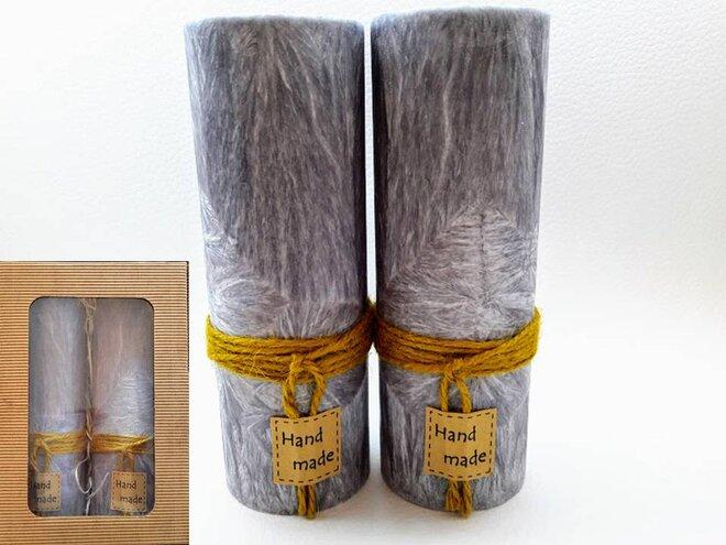 Darčekové balenie ekologických palmových sviečok D01 (antracitová)
