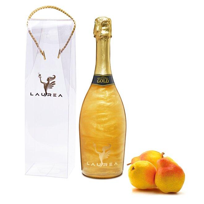 Nápoj na báze vína s perleťou Magic Royal Wine (Royal Gold / príchuť hruška)
