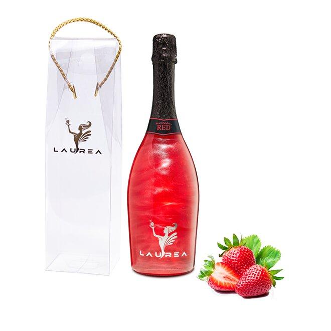 Nápoj na báze vína s perleťou Magic Royal Wine (Royal Red / príchuť jahoda)