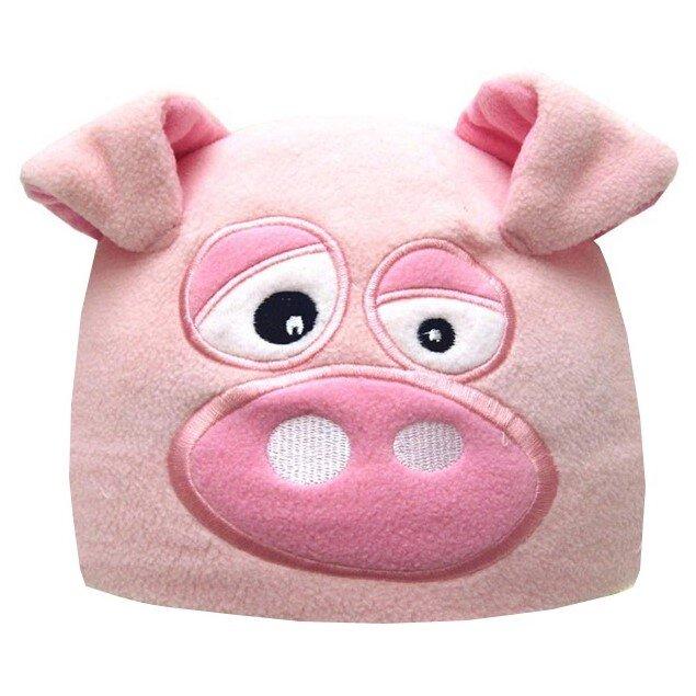 Detská fleecová čiapka prasiatko