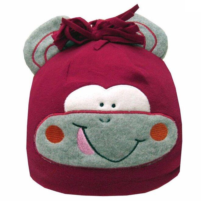 Detská fleecová čiapka opička