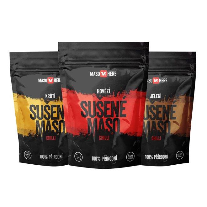 """3 x Sušené mäso """"Chilli"""" - Starter Pack (110 g)"""