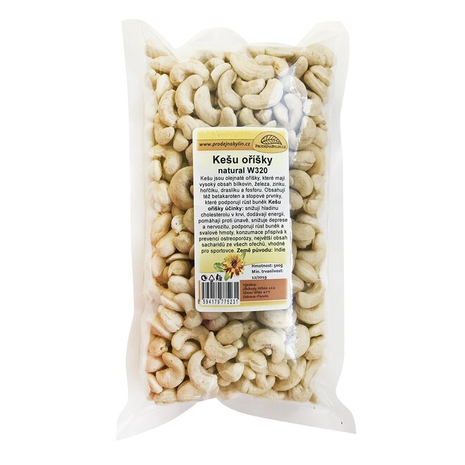 500 g Kešu orechy natural