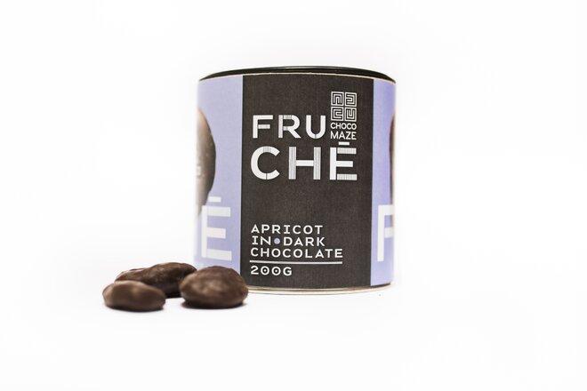 200 g Bio marhule v horkej čokoláde FRUCHÉ MARHUĽA
