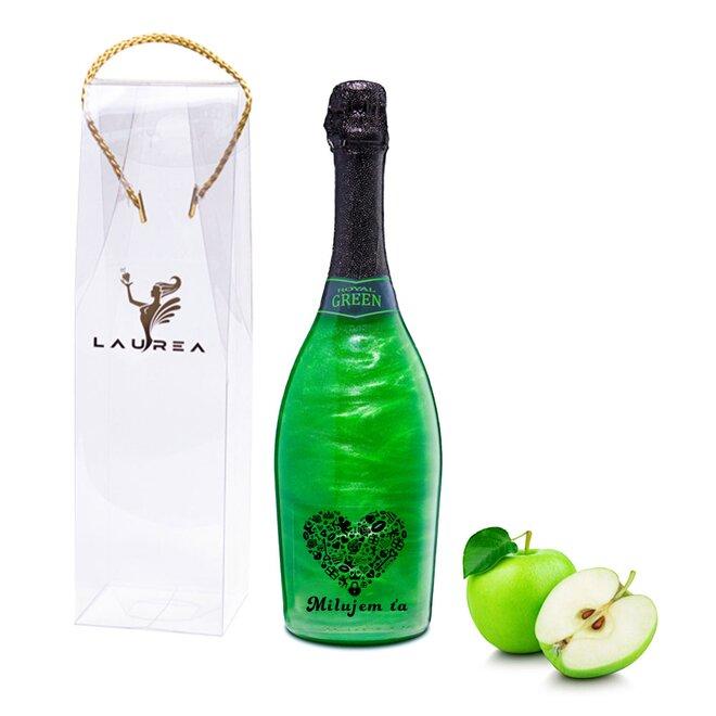 Nápoj na báze vína s perleťou Magic Royal Wine (Royal Green / príchuť jablko)
