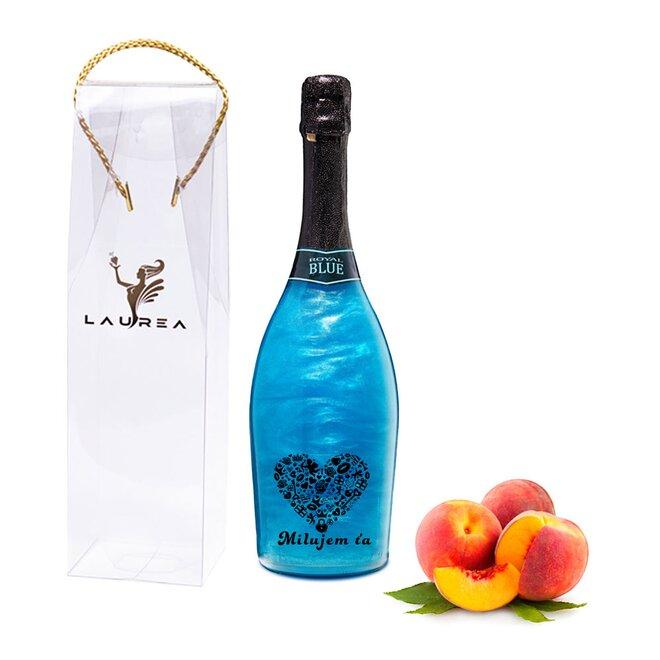 Nápoj na báze vína s perleťou Magic Royal Wine (Royal Blue / príchuť broskyňa)