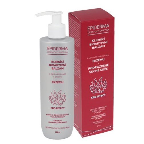 300 ml Bioaktívny CBD balzam na ekzém Epiderma