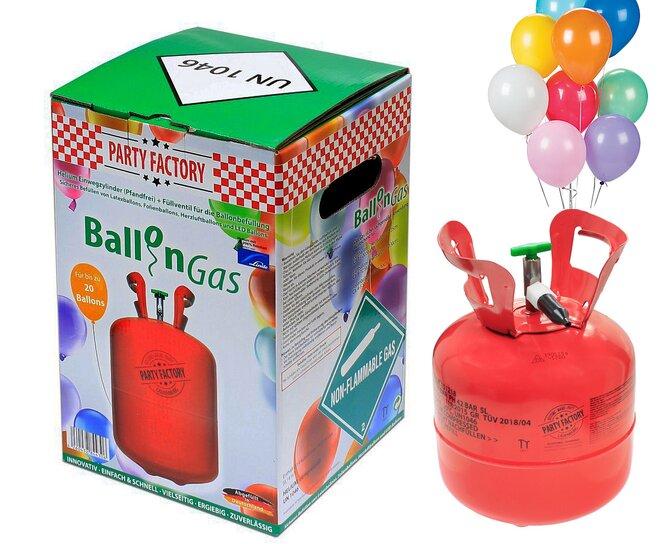 Hélium 155 l + 20 balónikov