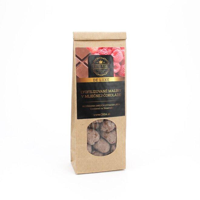 Mrazom sušené maliny v mliečnej čokoláde 50 g