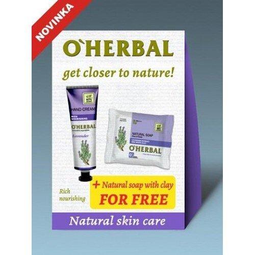 O'HerbalLevander set 1+1: Krém na ruky ľahké zvlhčenie + Mydlo Levander