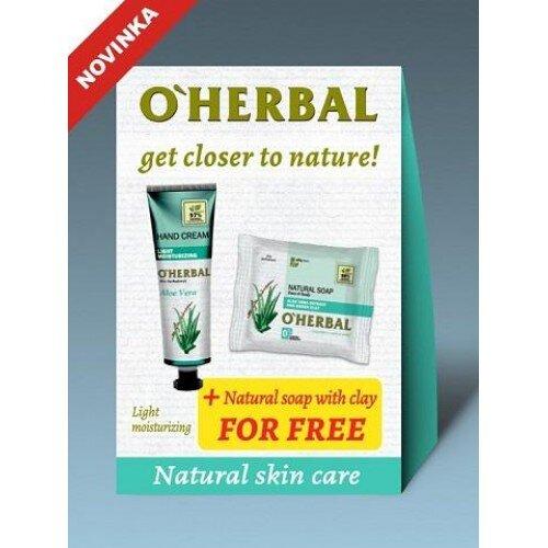 O'Herbal Aloe Vera set 1+1: Krém na ruky ľahké zvlhčenie + Mydlo Aloe vera