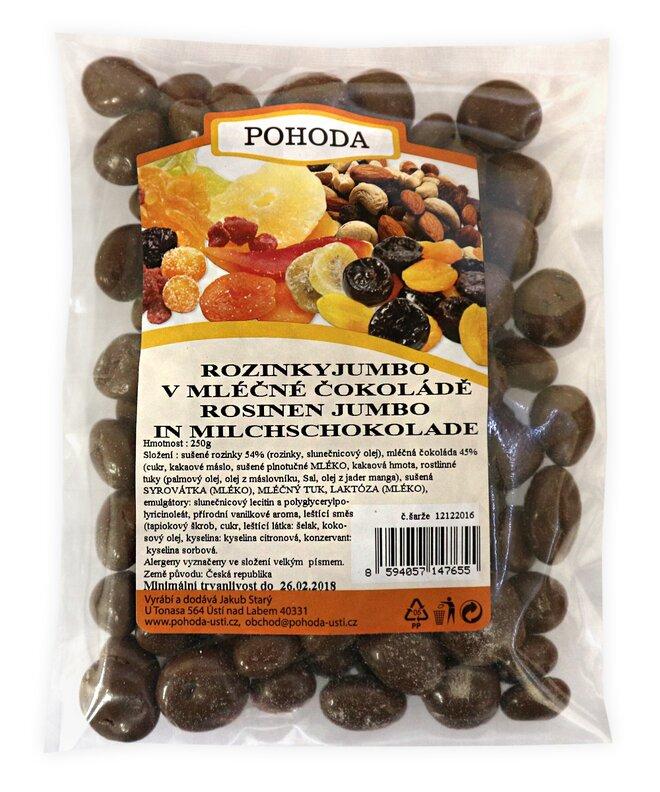 250 g Hrozienka Jumbo v mliečnej čokoláde