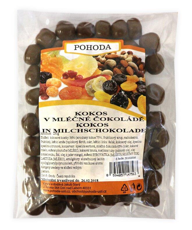 250 g Kokosové kocky v mliečnej čokoláde