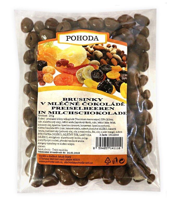 250 g Brusnice v mliečnej čokoláde