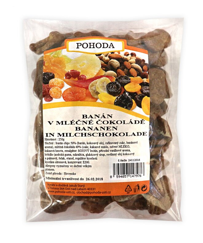 250 g Banán v mliečnej čokoláde