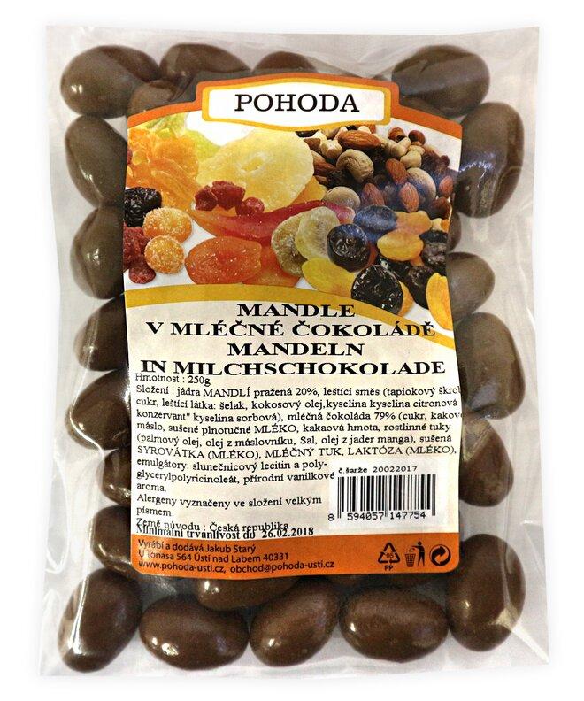 250 g Mandle v mliečnej čokoláde