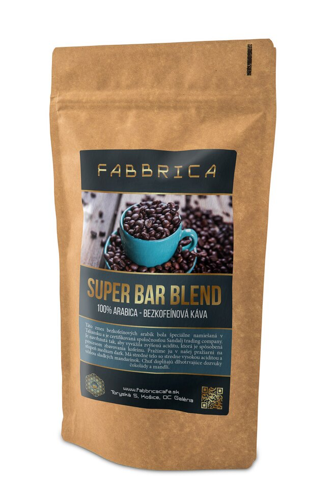 BEZKOFEINOVÁ Káva Super Bar Blend