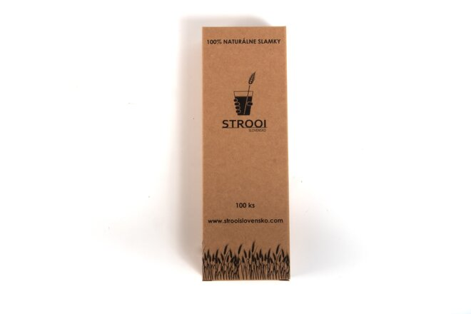 100 ks Naturálnych slamiek z organického farmárstva