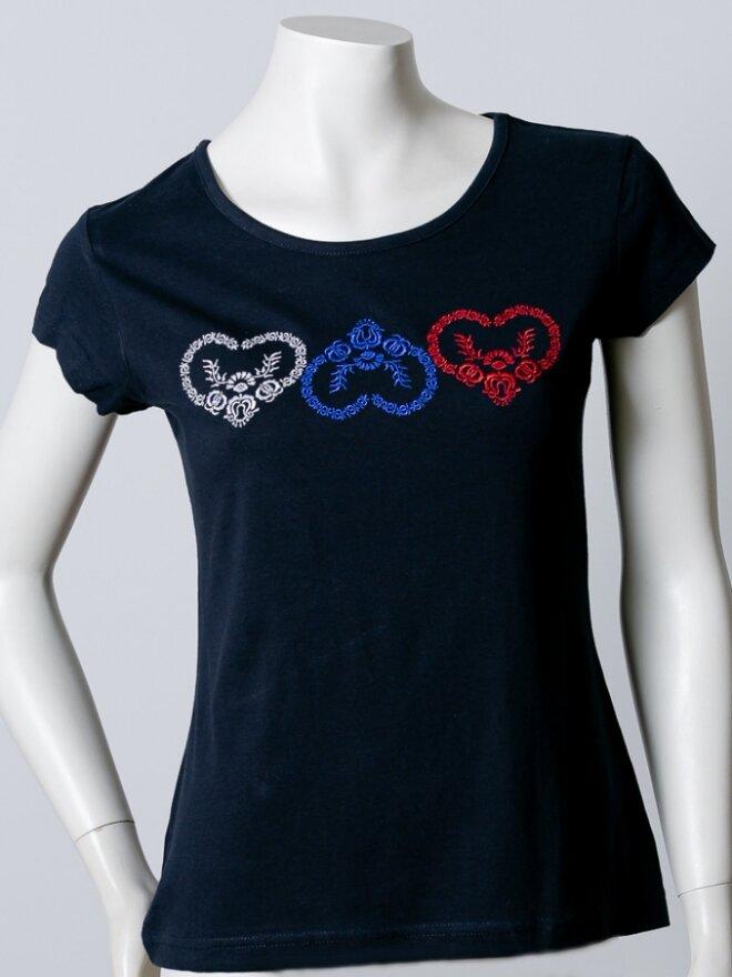 Dámske vyšívané tričko v darčekovom balení TRIKOLÓRA