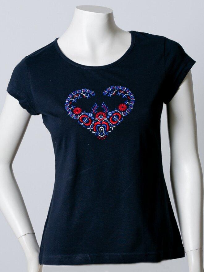 Dámske vyšívané tričko v darčekovom balení ŠTEFÁNIK