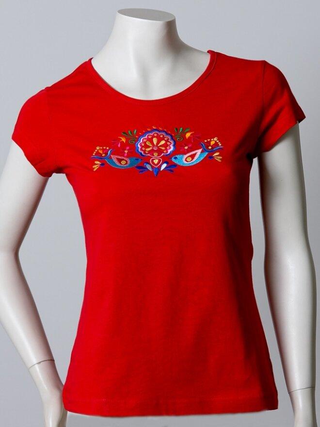 Dámske vyšívané tričko v darčekovom balení HOLUB
