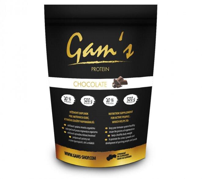 1 x 500 g Proteín Gam´s čokoláda + darček 1 x 55 g proteínová tyčinka