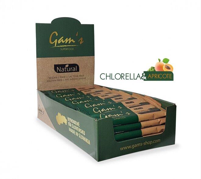 20 x 45 g Superfood tyčinka Gam´s (Chlorella & Apricote)