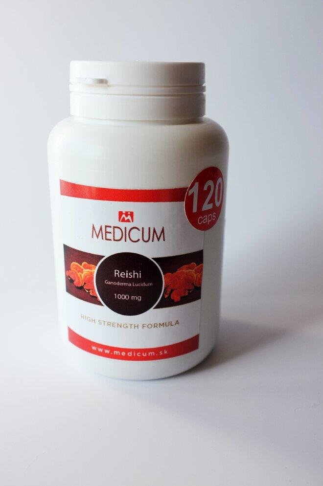 1 x 120 kapsúl REISHI Ganoderma Lucidum 1000 mg