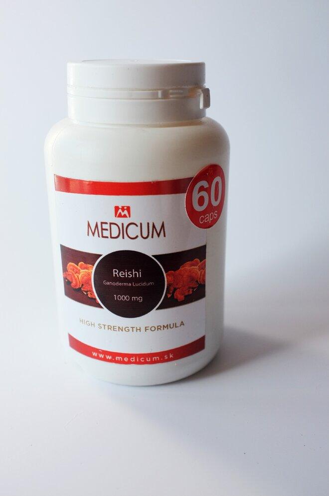1 x 60 kapsúl REISHI Ganoderma Lucidum 1000 mg