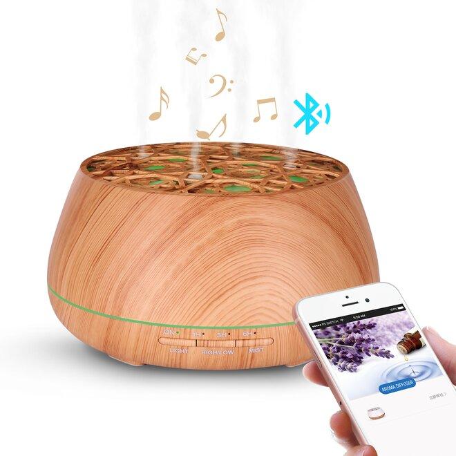 Difúzer Slack 400ml Music & Bluetooth - Svetlý