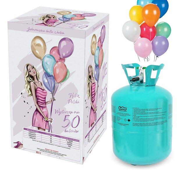 Hélium 420 l + 50 balónikov