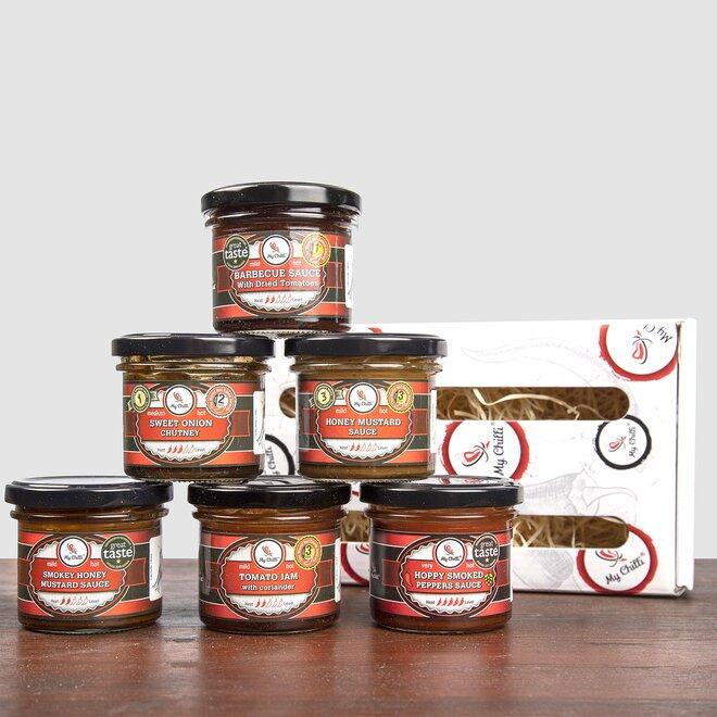 6 x Ocenená chilli omáčka v darčekovom balení
