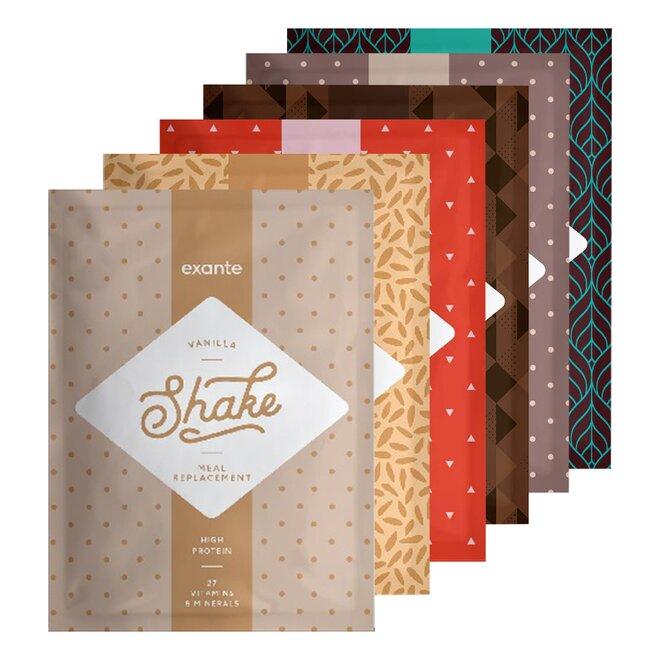 6 x 51 g Shake Exante (testovací balíček)