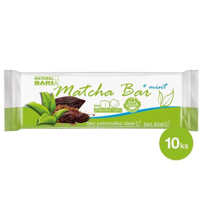 10 x 40 g Matcha bar / mint