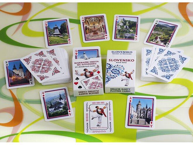 2-dielna Sada žolíkových hracích kariet (červená + modrá)