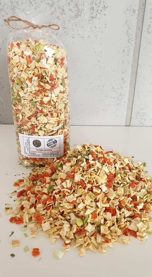 250 g Domáca vegeta bez soli / hrubá - krájaná