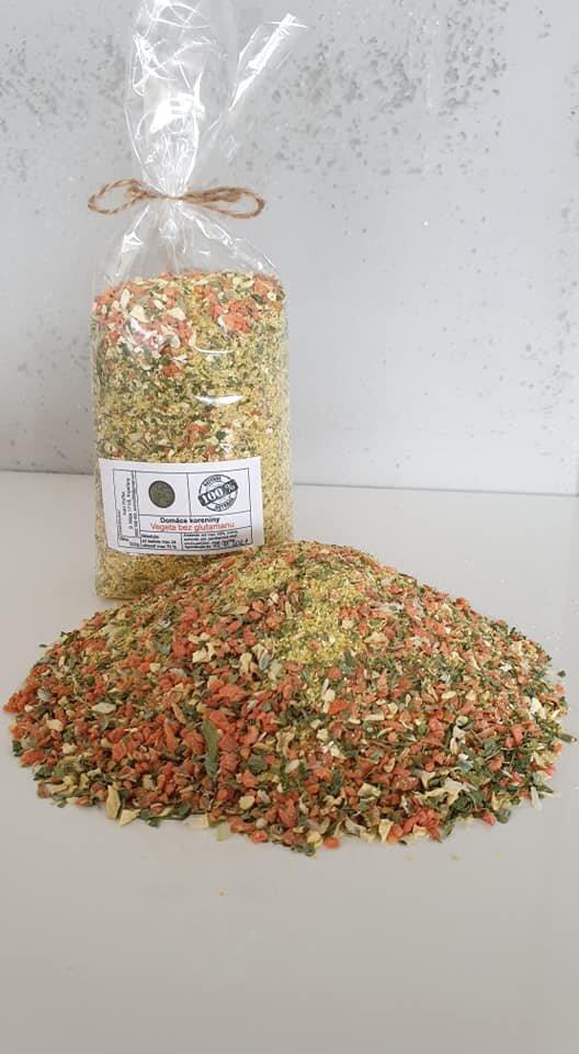 500 g Domáca vegeta so soľou a kurkumou / jemná - strúhaná