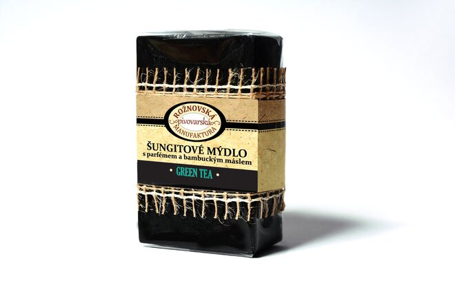 110 g Šungitové mydlo s bambuckým maslom (zelený čaj)