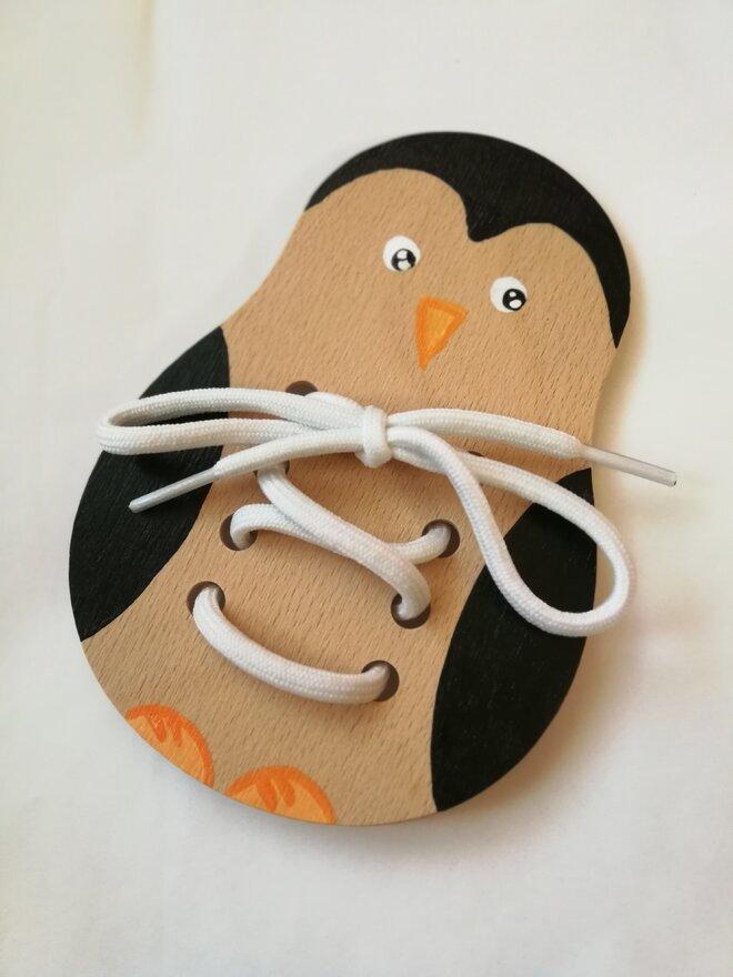Edukačná šnurovacia topánka (tučniak)