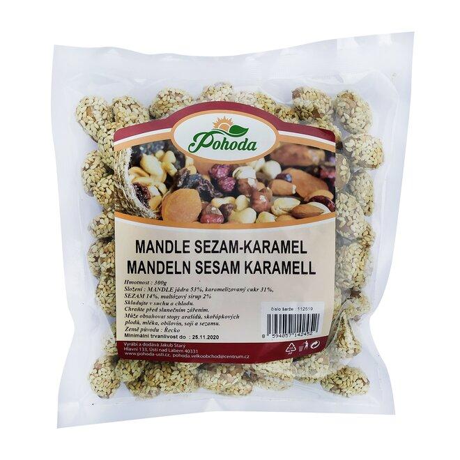 300 g Mandle - sezam a karamel