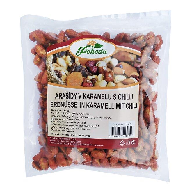 300 g Arašidy v karameli s čili