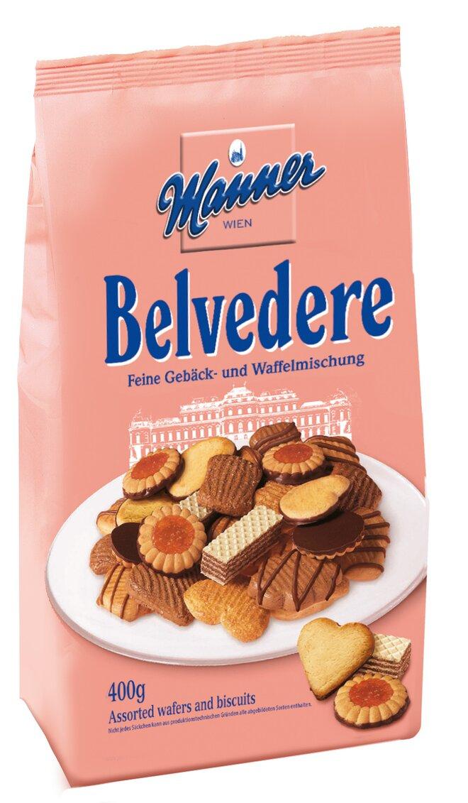 400 g Zmes sušienok a oblátok Manner Belvedere