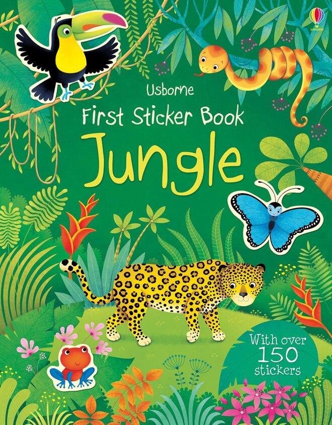 """Detská nalepovacia kniha """"Jungle"""" (džungla)"""