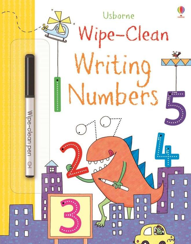 """Detská stierateľná kniha """"Writing numbers"""" (písanie čísiel)"""
