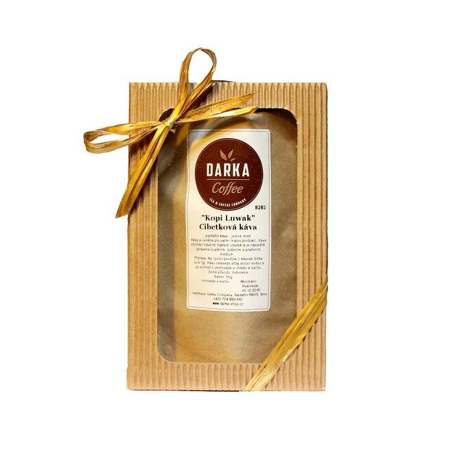 50 g Cibetková káva Kopi Luwak 100% Arabica (spôsob mletia-zrno)