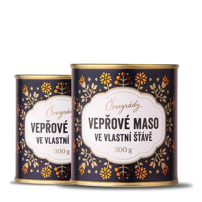 300 g Bravčové mäso českej značky Čongrády / vo vlastnej šťave