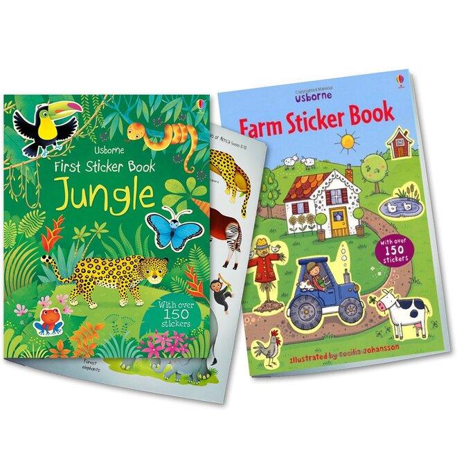 2-dielna Sada detských nalepovacích kníh (Farm + Jungle)