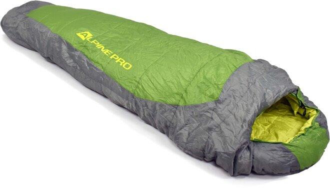 Spací vak Alpine Pro PEIRE (zelená + sivá + žltá)