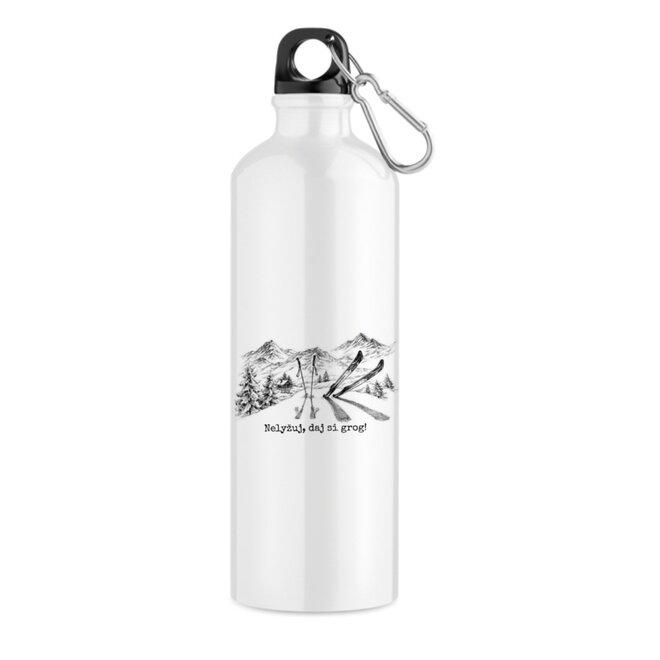 """550 ml Turistická fľaša """"Nelyžuj, daj si grog!"""""""