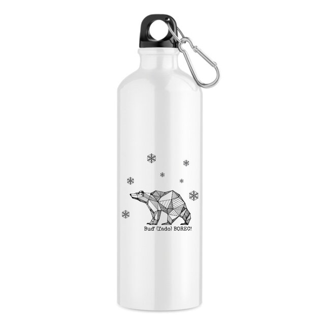 """550 ml Turistická fľaša """"Buď (ľado) borec"""""""